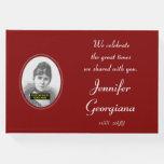 [ Thumbnail: Respectable, Plain Funeral/Memorial Guest Book ]