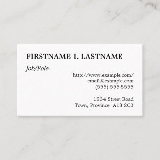 Respectable & Plain Professional Business Card