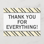 """[ Thumbnail: Respectable """"Thank You For Everything!"""" Postcard ]"""