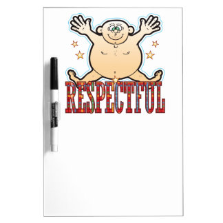 Respectful Fat Man Dry-Erase Board