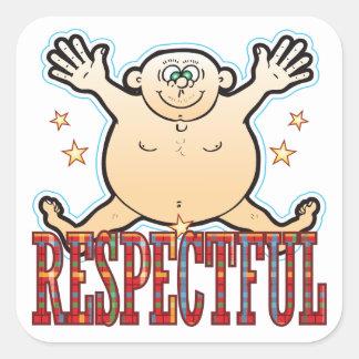 Respectful Fat Man Square Sticker