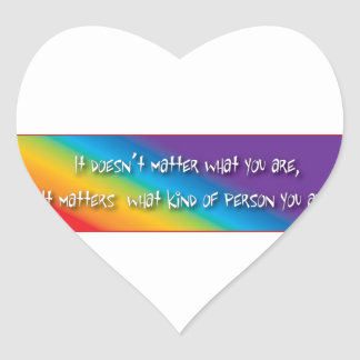 Respectful gay products heart sticker