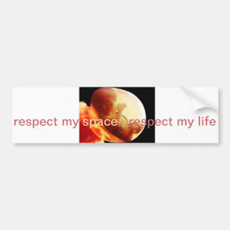 Respecting the lives of the Unborn Bumper Sticker