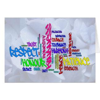 Respecto, amabilidad, confianza… Arte de la palabr Tarjeta Pequeña