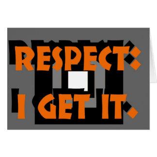 Respecto: Consigo eso Tarjeta Pequeña