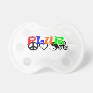 Respecto de la unidad del amor de la paz de PLUR Chupete De Bebe