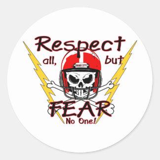 Respecto de los indios de la ciudad de Osage Pegatina Redonda