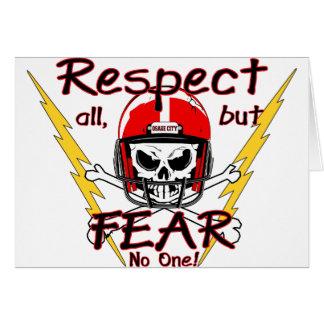 Respecto de los indios de la ciudad de Osage Tarjeta De Felicitación