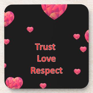 Respecto del amor de la confianza posavasos