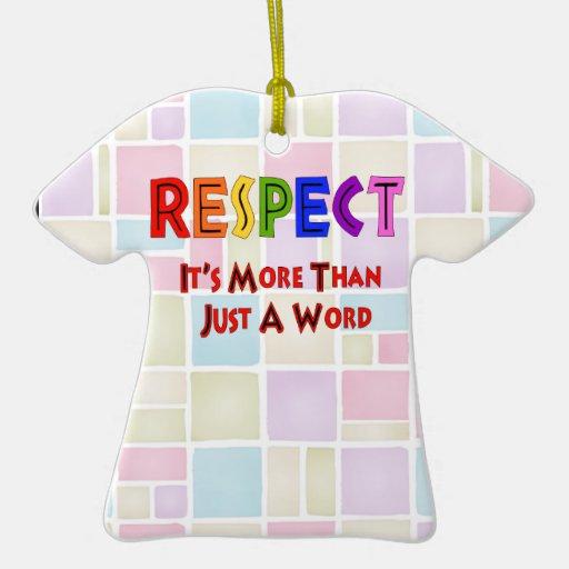 Respecto del arco iris adorno de cerámica en forma de camiseta