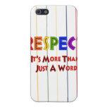 Respecto del arco iris iPhone 5 carcasa