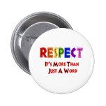 Respecto del arco iris pins
