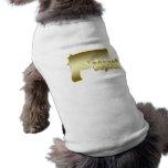 Respecto en oro camisetas de perrito