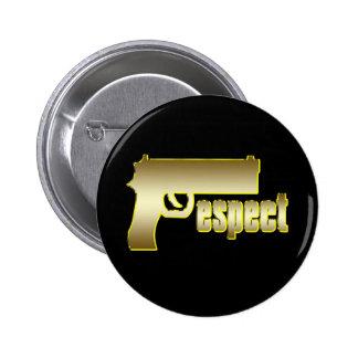 Respecto en oro pin