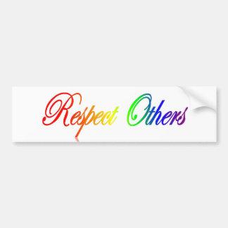 Respecto otros pegatina para el parachoques etiqueta de parachoque
