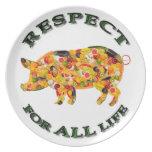 Respecto por TODA LA vida - cerdo vegetariano Platos De Comidas