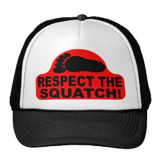 ¡RESPECTO rojo el SQUATCH! Logotipo - nuevo golpe  Gorro