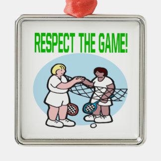 Respecto The Game Adorno Cuadrado Plateado