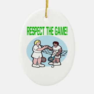 Respecto The Game Adorno Ovalado De Cerámica