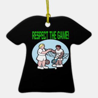 Respecto The Game Adorno De Cerámica En Forma De Camiseta