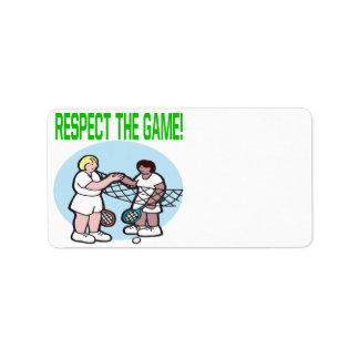 Respecto The Game Etiqueta De Dirección