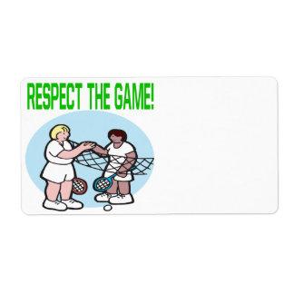 Respecto The Game Etiquetas De Envío