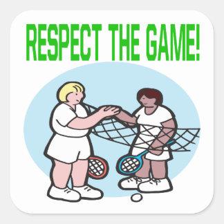Respecto The Game Pegatina Cuadrada