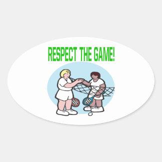 Respecto The Game Pegatina Ovalada