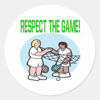 Respecto The Game Pegatina Redonda