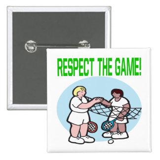 Respecto The Game Pin Cuadrado