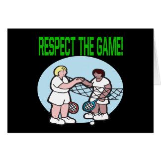 Respecto The Game Tarjeta De Felicitación