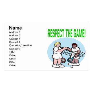 Respecto The Game Tarjetas De Visita