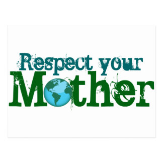 Respete a su madre postal