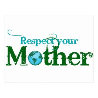 Respete a su madre postales