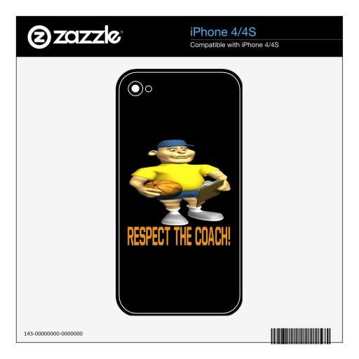 Respete al coche calcomanía para el iPhone 4S