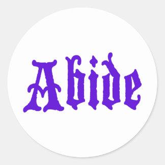 Respete (edición púrpura grande) pegatinas redondas