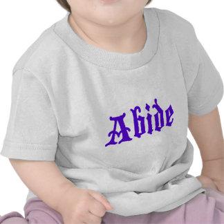 Respete (edición púrpura grande) camisetas