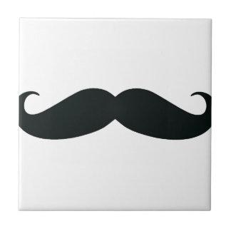 Respete el bigote de Stache Azulejo Cuadrado Pequeño
