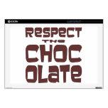 Respete el chocolate calcomanías para portátiles