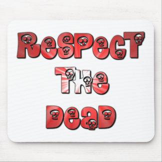 Respete el cojín de ratón muerto en rojo alfombrillas de ratones
