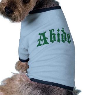 Respete (el edtion verde) camiseta de mascota