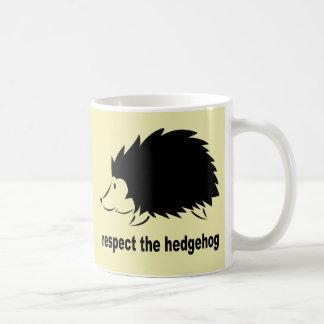 Respete el erizo tazas de café
