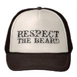 Respete el gorra del camionero de la barba para lo