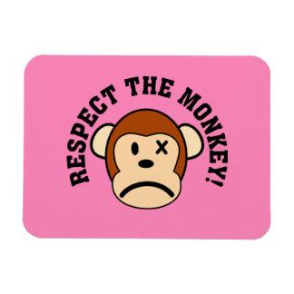 Respete el mono enojado o haga frente a su cólera imanes de vinilo
