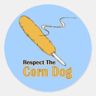 ¿Respete el perro de maíz Pegatinas