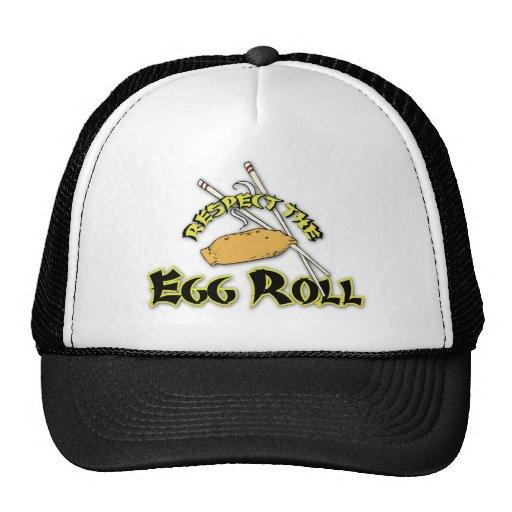 Respete el rollo de huevo gorra