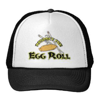 Respete el rollo de huevo gorro