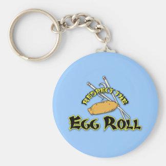 Respete el rollo de huevo llavero