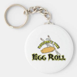 Respete el rollo de huevo llaveros