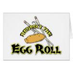 Respete el rollo de huevo tarjeta de felicitación